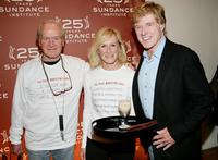 Paul Newman and Glenn Close with Robert Redfordr at the Sundance Institute 25th Anniversary Celebration.