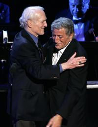 Paul Newman and Tony Bennett at Singers and Songs Celebrate Tony Bennett's 80th Birthday.