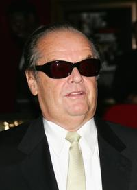 Jack Nicholson at the New York premiere of
