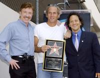 Chuck Norris, Michael Bolton and Rob Schneider at the Hollywood Walk of Fame.