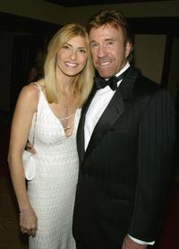 Gena Norris and Chuck Norris at the Los Angeles Police Department Protective League's Eagle & Badge Foundation and the Tichi Wilkerson Kassel Parkinson's Foundation Gala.