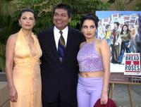 Elpidia Carrillo, George Lopez and Pilar Padilla at the Los Angeles premiere of