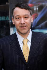 Sam Raimi at the Times Square for the announcement of