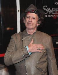 Keith Richards at the New York premiere of