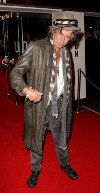 Keith Richards at the UK premiere of