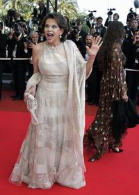 Claudia Cardinale at the Festival Palace in Cannes for film