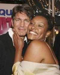 Eric Roberts and Nnegest Likke at the premiere of
