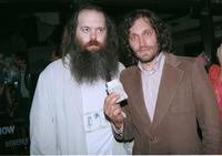 Rick Rubin and Vincent Gallo at the Mr. Chows restaurant.
