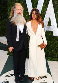 Rick Rubin and Mourielle Herrera at the 2012 Vanity Fair Oscar Party in California.