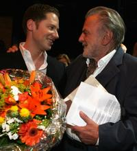 Maximilian Schell and Marco Kreuzpaintner at the Bernhard Wicki Award