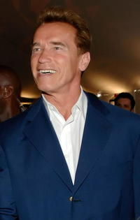 Arnold Schwarzenegger at Game One of the 2007 NHL Stanley Cup Finals in California.