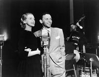 Frank Sinatra and Rosemary Clooney at the recording session for the song,