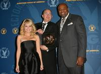 Barry Sonnenfeld, Kristin Chenoweth and Chi McBride at the press room at the 60th annual DGA Awards held at the Hyatt Regency Century Plaza Hotel.