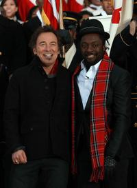Bruce Springsteen and Will.i.am at the Lincoln Memorial during the