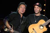 Bruce Springsteen and Tom Morello at the Clearwater Benefit Concert Celebrating Pete Seeger's 90th Birthday.