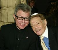 Daniel Libeskind and Jerry Stiller at the Festival of Freedom Downtown Seder.