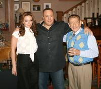 Leah Remini, Kevin James and Jerry Stiller at the 200th Episode party of
