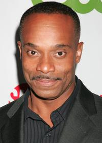 Rocky Carroll at the CW/CBS/Showtime/CBS Television TCA party.