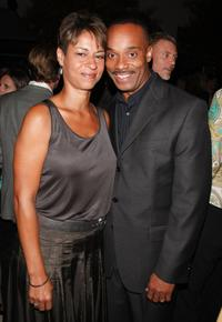 Gabrielle Bullock and Rocky Carroll at the CW/CBS/Showtime/CBS Television TCA party.