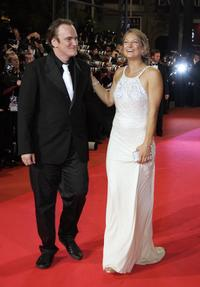 Quentin Tarantino and Zoe Bell at the 60th edition of the Cannes Film Festival.