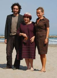 Mathieu Demy, Agnes Varda and Rosalie Varda at the 65th Venice Film Festival.