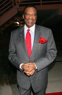 Bernie Casey at the first anniversary celebration of the Artpeace Gallery.