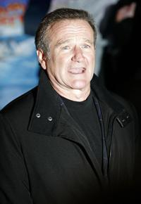 Robin Williams at the European premiere of the animated comedy feature fim
