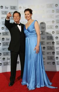James Woods and Geena Davis at the 5th Annual Hamilton Behind the Camera Awards.