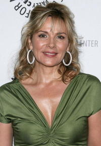 Kim Cattrall at a gala honoring Sumner Redstone presented by The Paley Center For Media in N.Y.