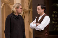 Director Andrew Dominik and Casey Affleck on the set of