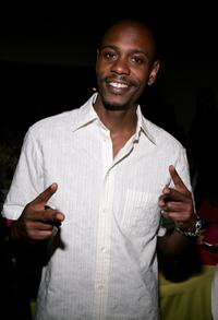 Dave Chappelle at the Grand Gala Hilton VIP reception held at the Muhammad Ali Center.