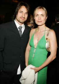 Martin Henderson and Radha Mitchell mingle at the cocktail reception during the 5th Annual Celebration of New Zealand Filmmaking and Creative Talent.