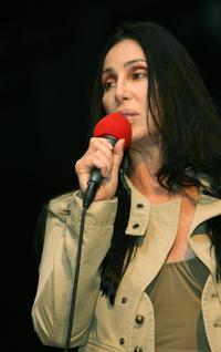 Cher speaks at the premiere of