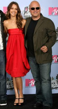 Michael Chiklis and Jessica Alba at the press room during the 2007 MTV Movie Awards held at the Gibson Amphitheatre.