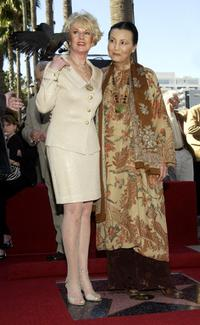 Tippi Hedren and Kieu Chinh at the Hollywood Walk of Fame.
