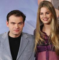 Clovis Cornillac and Vanessa Hessler at the photocall of