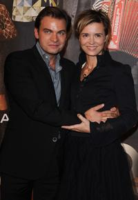 Clovis Cornillac and Caroline Proust at the premiere of