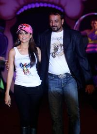 Amrita Arora and Sanjay Dutt at the launch of US fashion brand