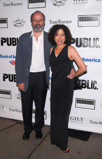 Director Daniel Sullivan and Mimi Lieber at the 2009 Shakespeare in the Park opening night performance of