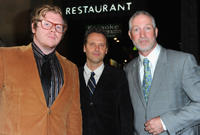 Ben York Jones, composer Dustin O'Halloran and Oliver Muirhead at the California premiere of