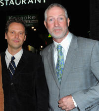 Composer Dustin O'Halloran and Oliver Muirhead at the California premiere of