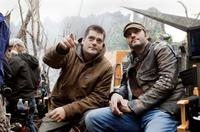 Director Nimrod Antal and producer Robert Rodriguez on the set of