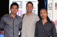 Iko Uwais, Ray Sahetapy and Yayan Ruhian at the portrait session of