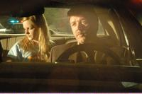 Sophie Traub as Lori and Russell Crowe as Lieutenant Cristofuoro in
