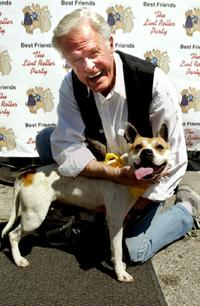 Robert Culp and his friend at the Best Friends Lint Roller Party.
