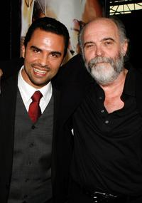 Manny Perez and Director Leon Ichaso at the premiere of