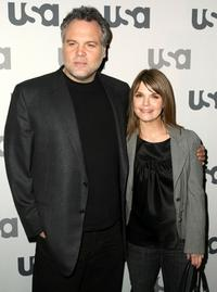 Vincent D'Onofrio and Kathryn Erbe at the USA Network Upfront.