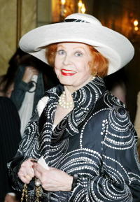 Arlene Dahl at the American Theater Wing luncheon honoring Isabelle Stevenson.