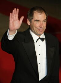 Timothy Dalton at the London premiere of