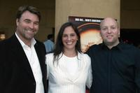 Thomas Augsberger, Jana Augsberger and Zak Penn at the premiere of